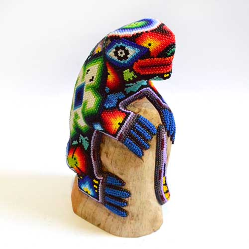 Iguana - Huichol art